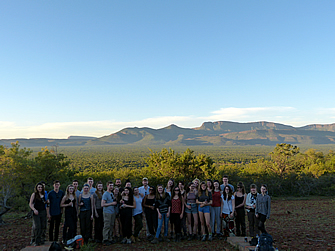 Africa 2016: 10 years Africa Field Course! Overlooking the plains toward to Waterberg Mountains.