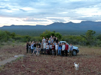 Here are all students of the Africa 2017 course with the Kransberg in the background.